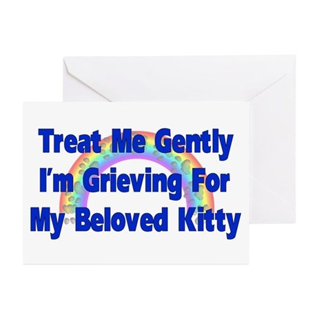 Kitty Over Rainbow Bridge Greeting Cards (Package