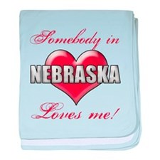 Somebody In Nebraska Loves Me baby blanket