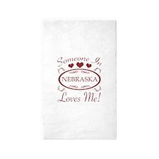 Somebody In Nebraska Loves Me 3'x5' Area Rug