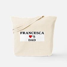Francesca loves dad Tote Bag