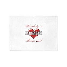 Somebody In Nebraska Loves Me 5'x7'Area Rug