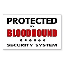 Bloodhound Security Rectangle Decal