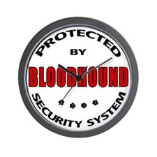 Bloodhound Security Wall Clock