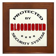 Bloodhound Security Framed Tile