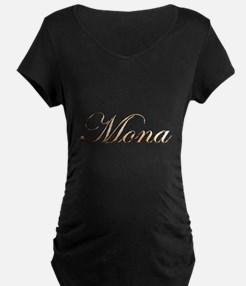 Gold Mona Maternity T-Shirt