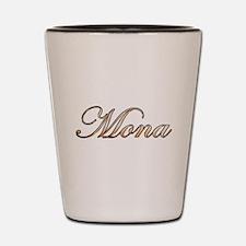Gold Mona Shot Glass