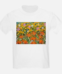 Cool Flowers color T-Shirt