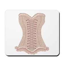 Corset pink Lacy with Bows Mousepad