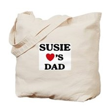 Susie loves dad Tote Bag