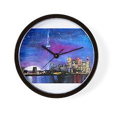 TorontoToronto Skyline at Night Wall Clock
