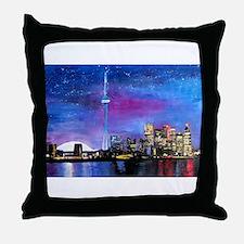 TorontoToronto Skyline at Night Throw Pillow