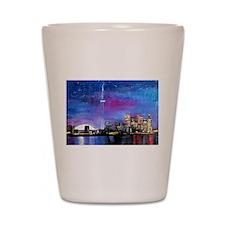 TorontoToronto Skyline at Night Shot Glass
