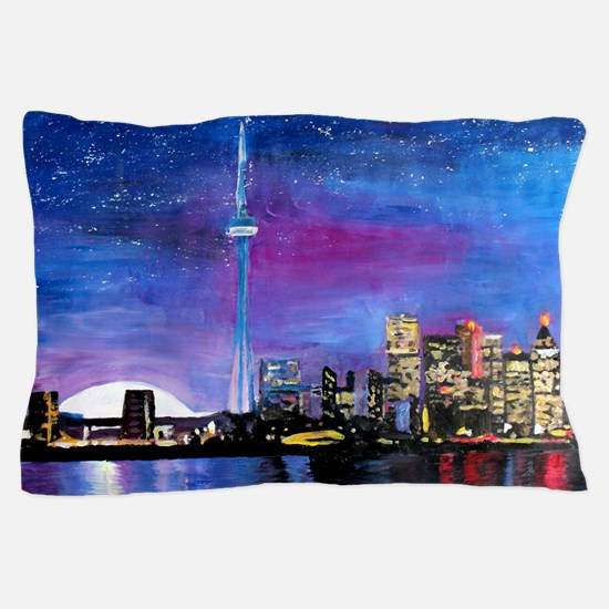 TorontoToronto Skyline at Night Pillow Case
