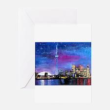 TorontoToronto Skyline at Night Greeting Cards