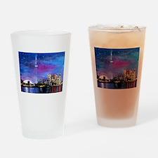 TorontoToronto Skyline at Night Drinking Glass