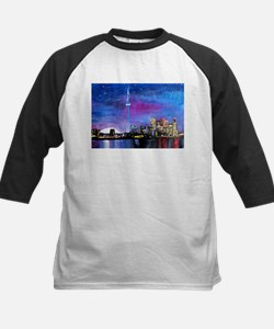 TorontoToronto Skyline at Night Baseball Jersey