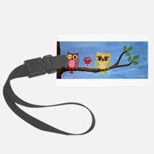 Owl Family On A Tree Luggage Tag