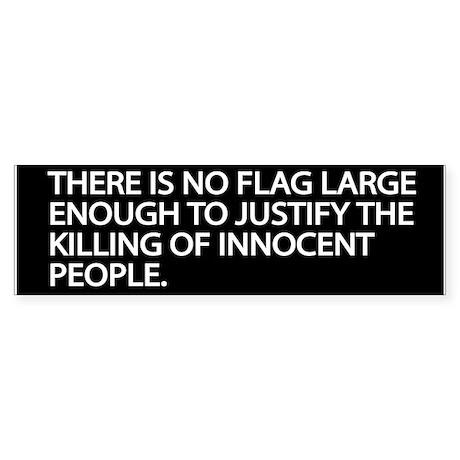 No Flag Bumper Sticker