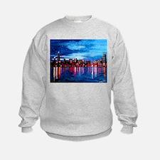 Chicago Skyline At Night Sweatshirt