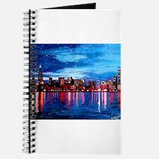 Chicago Skyline At Night Journal