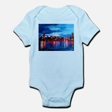 Chicago Skyline At Night Body Suit