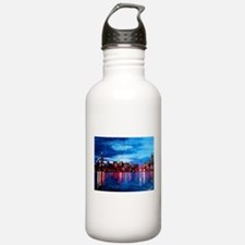 Chicago Skyline At Nig Water Bottle