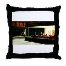 Cute Edward hopper nighthawks Throw Pillow