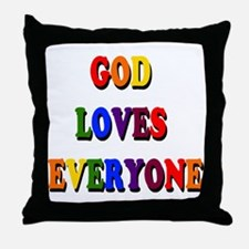 God loves everyone 3-tier Throw Pillow
