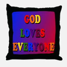 God loves everyone (rainbow) Throw Pillow