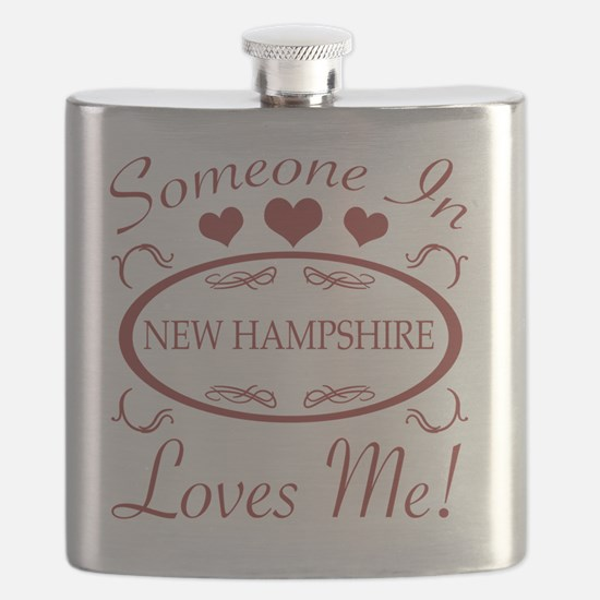 Somebody In New Hampshire Loves Me Flask