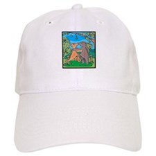 Dinosaurs In Love Baseball Cap