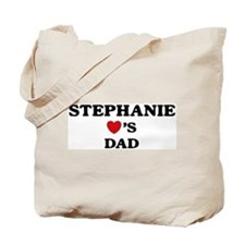 Stephanie loves dad Tote Bag