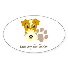 Love my Fox Terrier Decal