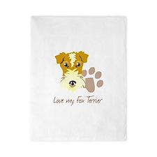 Love my Fox Terrier Twin Duvet