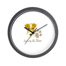 Love my Fox Terrier Wall Clock