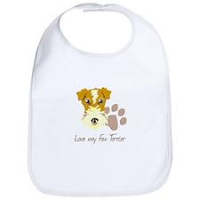 Love my Fox Terrier Bib