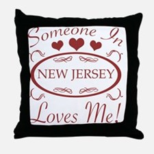Somebody In New Jersey Loves Me Throw Pillow