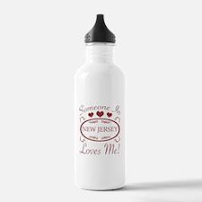Somebody In New Jersey Water Bottle