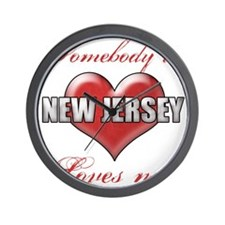 Somebody In New Jersey Loves Me Wall Clock