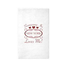 Somebody In New York Loves Me 3'x5' Area Rug