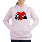 Panda Bear Love Women's Hooded Sweatshirt