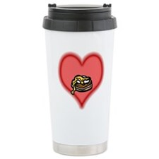 eggs benedict on pink heart.PNG Travel Mug
