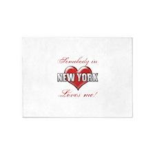 Somebody In New York Loves Me 5'x7'Area Rug