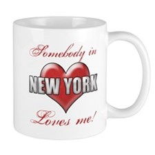 Somebody In New York Loves Me Mugs