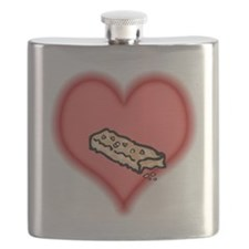 granola bar on pink heart.PNG Flask