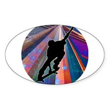 Skateboard on a Building Ray Decal
