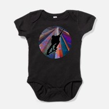 Skateboard on a Building Ray Baby Bodysuit