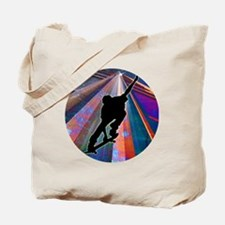 Skateboard on a Building Ray Tote Bag