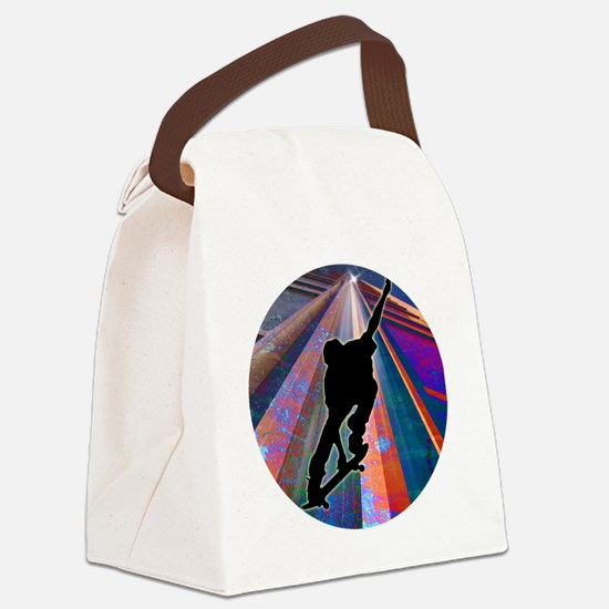 Skateboard on a Building Ray Canvas Lunch Bag