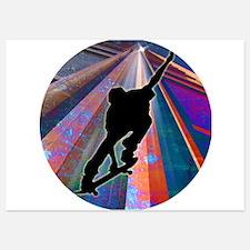 Skateboard on a Building Ray Invitations